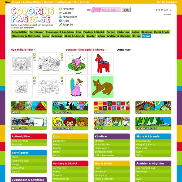 Färglägg målarbilder på coloringpages.se