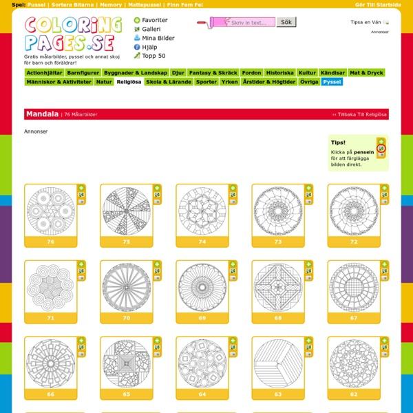 Målarbilder på coloringpages.se