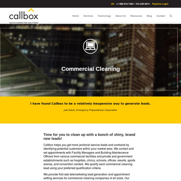 Commercial Cleaning Leads in Malaysia