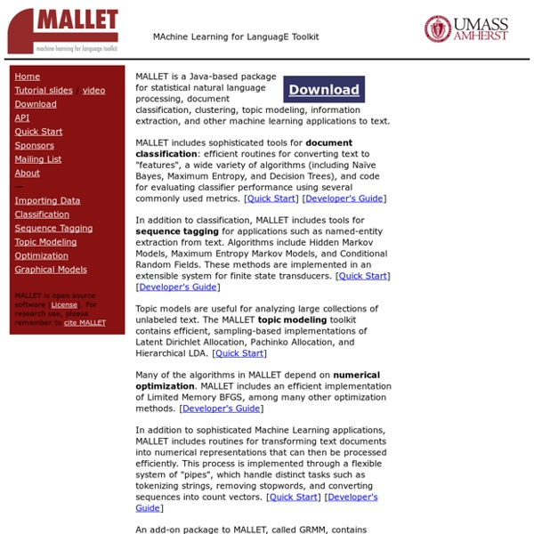 MALLET homepage
