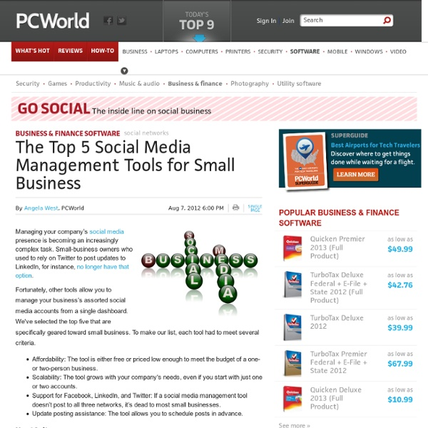 The Top 5 Social Media Management Tools for Small Business
