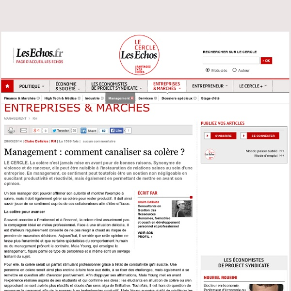 Article : comment canaliser sa colère