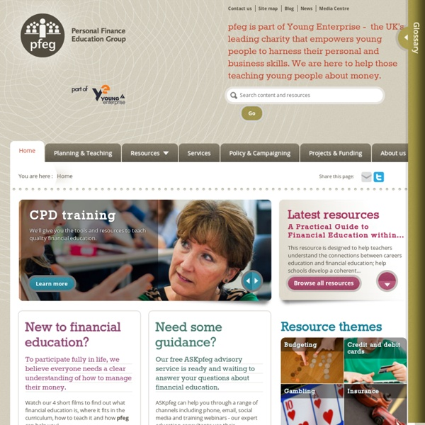 Providing lesson plans and teaching resources on money management to help teachers of financial capability