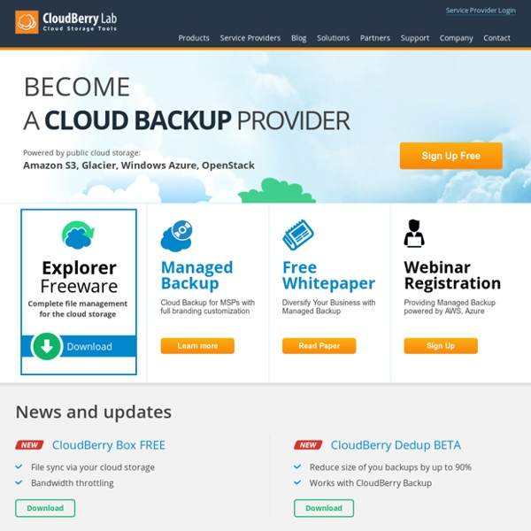 CloudBerry Lab - Cloud Backup & Free Amazon S3 Client