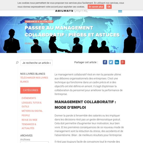 Passer au management collaboratif : pièges et astuces