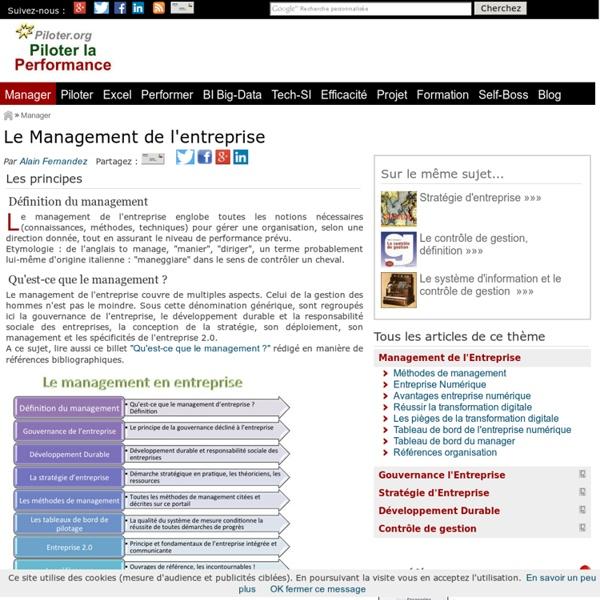Management de l'entreprise