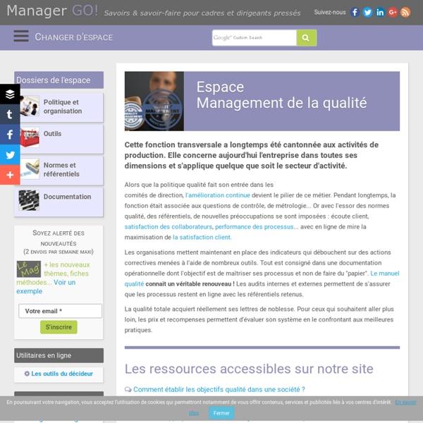 Management de la qualité et démarche qualité, exemples, cours