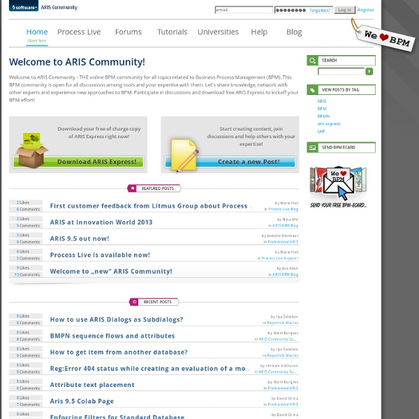 Business process management discussions, news and articles