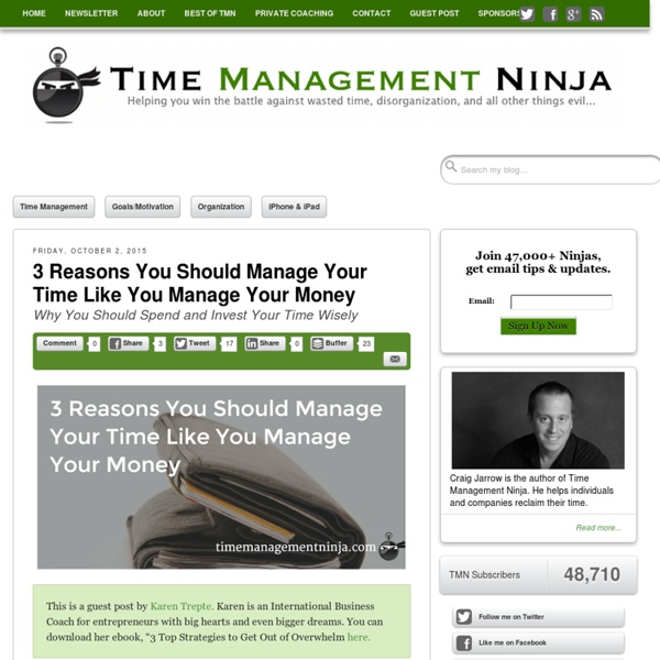 Time Management Ninja - Tools and tips for effective time management strategies, goal setting, and motivation.