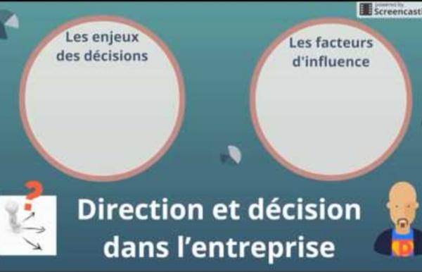 BTS Management - Th1 Chap4 : Direction et décision dans l'entreprise