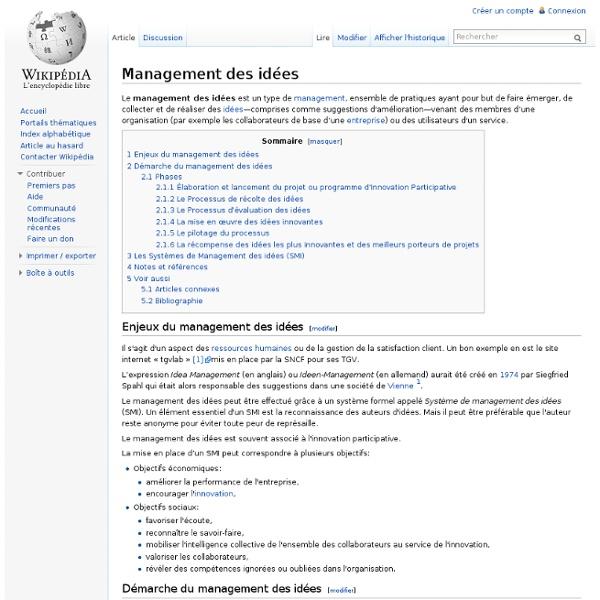 Management des idées