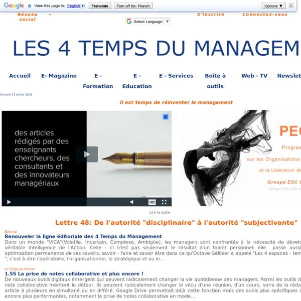 Management : Les 4 Temps du Management