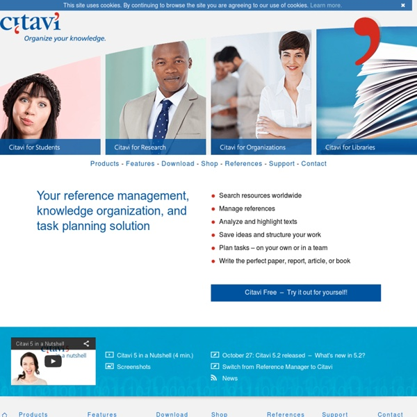 Citavi – Reference Management and Knowledge Organization