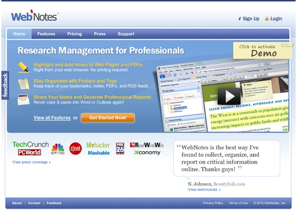 Research Management for Professionals, Web and PDF Annotation