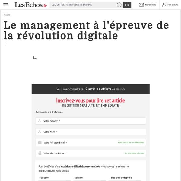 Le management à l'épreuve de la révolution digitale