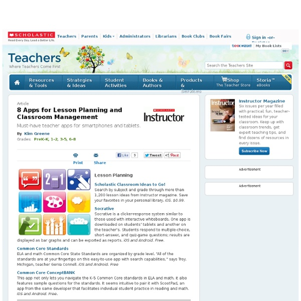 8 Apps for Lesson Planning and Classroom Management