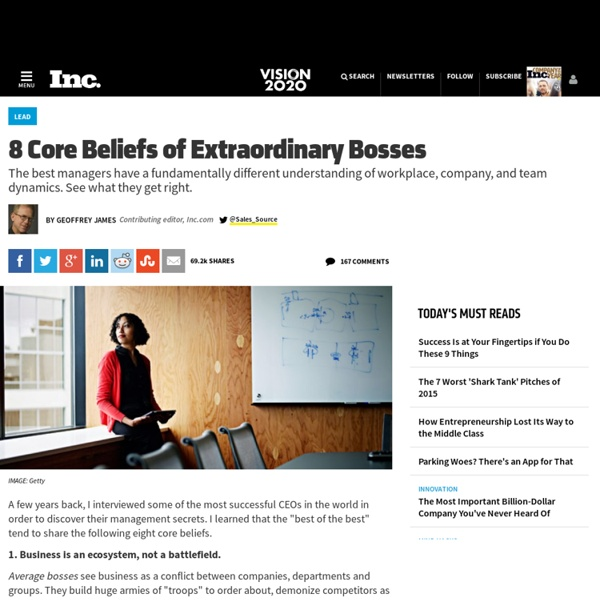 Management Secrets: Core Beliefs of Great Bosses