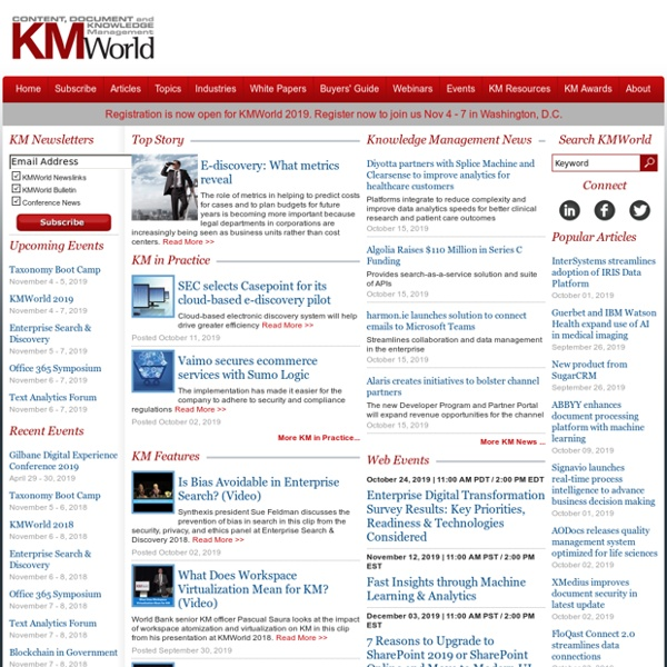 KMWorld Magazine-Pertinence 4/5