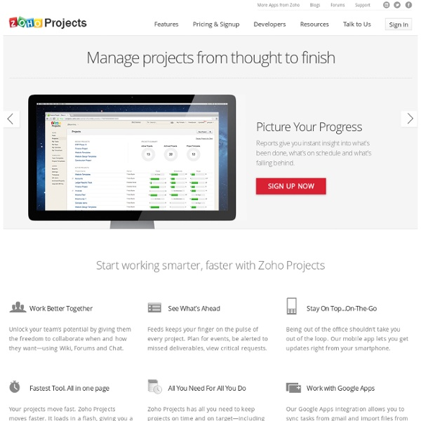 Project Management Software, Web Project Management System :Zoho