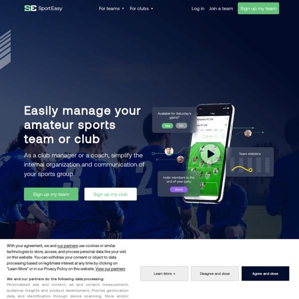 Gestion en ligne de votre équipe ou de votre club - SportEasy