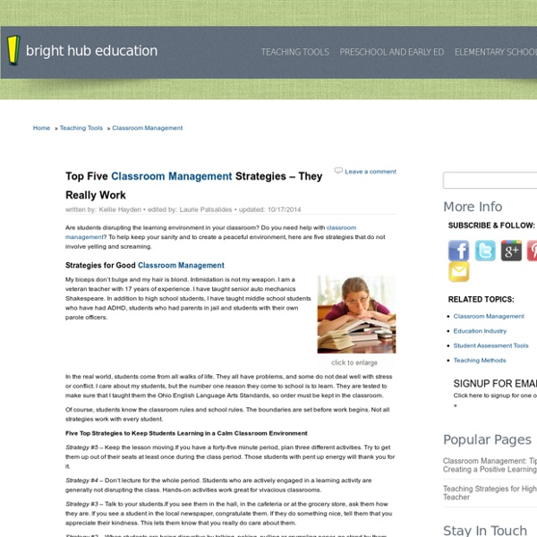 Top 5 Classroom Management Strategies