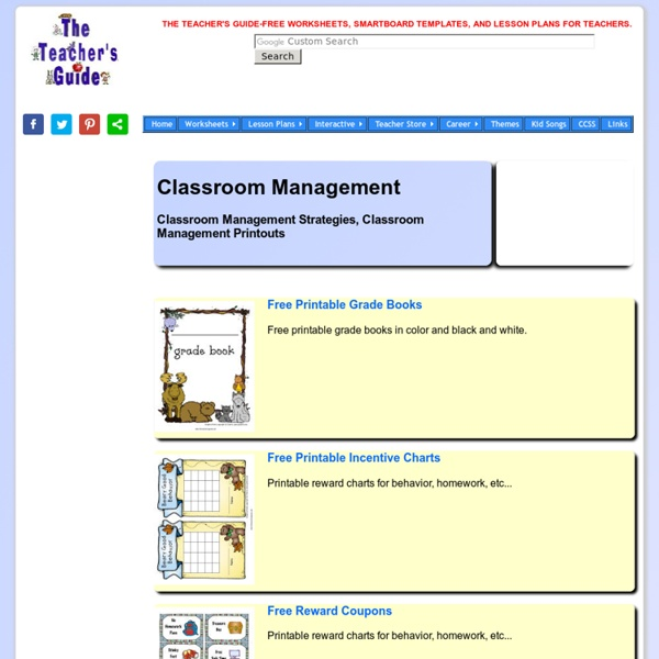 The Teacher's Guide Classroom Management Strategies and Resources Page