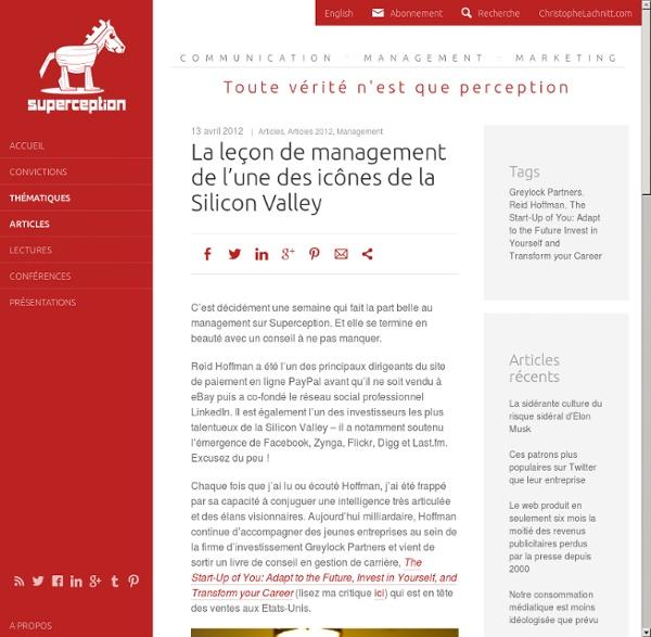 La leçon de management de l'une des icônes de la Silicon Valley