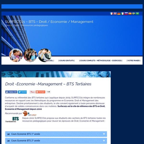 Surfeco21 – Cours Économie/Droit/Management – BTS