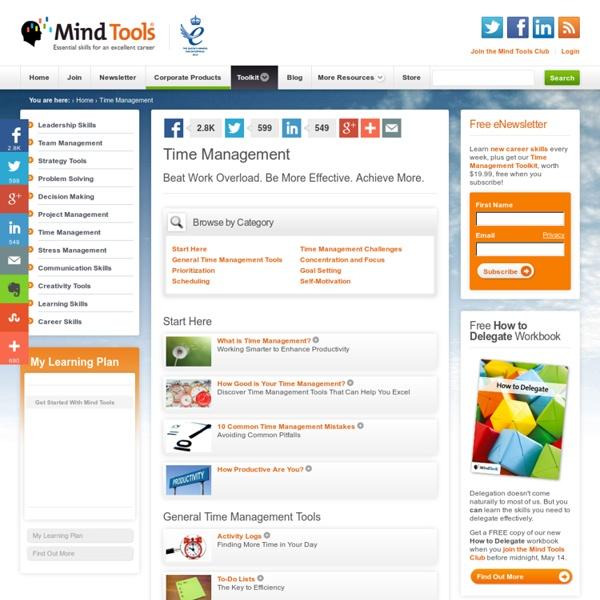 Time Management - MindTools