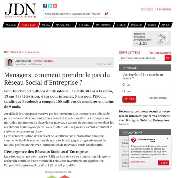 Managers, comment prendre le pas du Réseau Social d'Entreprise ?