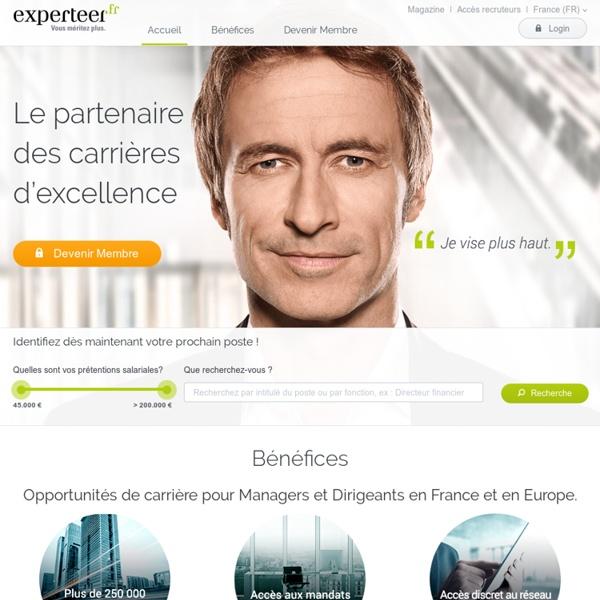Offres d'emploi cadres et managers et accès aux recruteurs et DRH sur Experteer