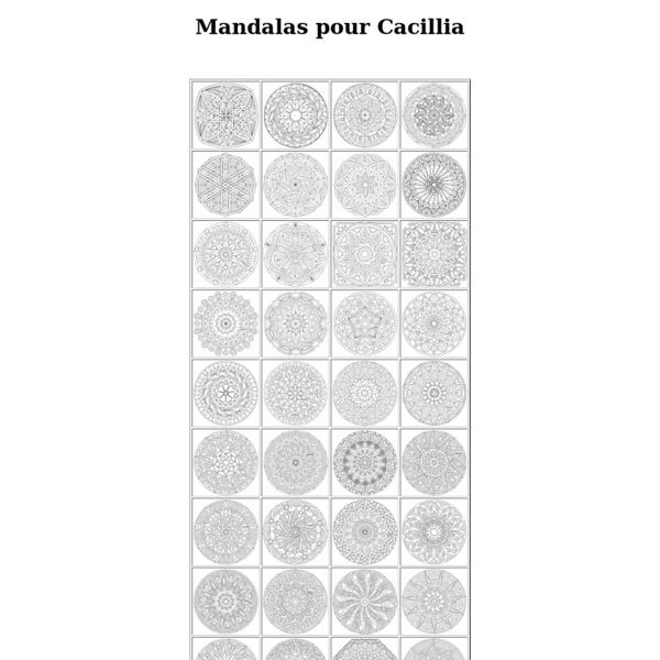 Mandalas pour Cacillia