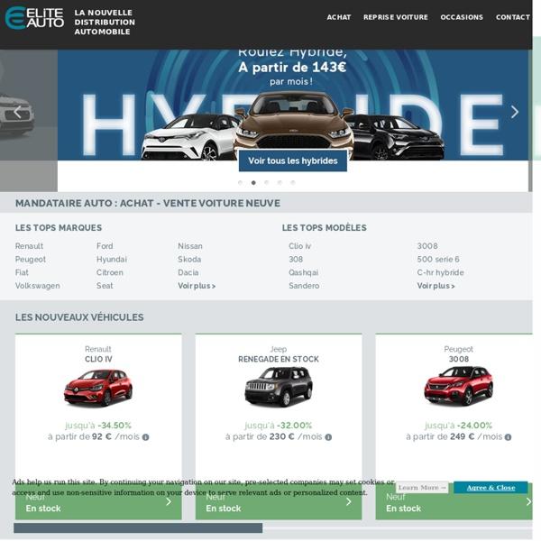 Mandataire auto Elite-auto.fr : Remise sur voiture neuve