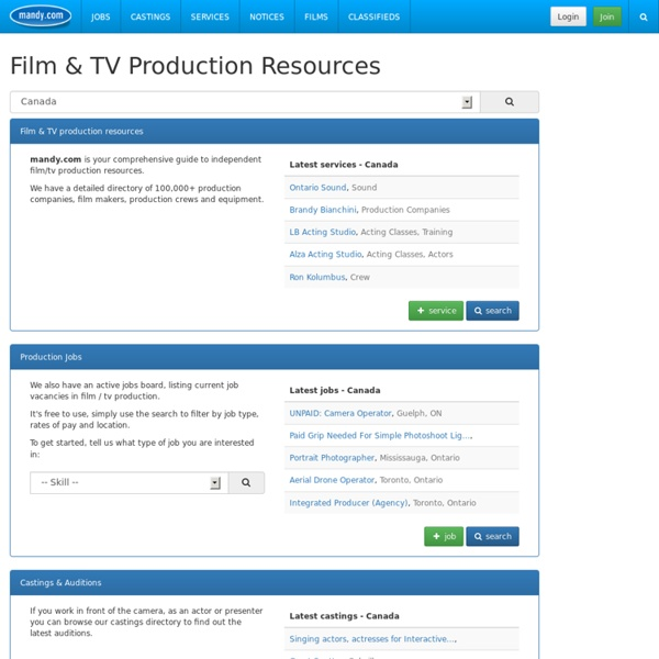 Mandy's Film and TV Production Directory - television - video - broadcast