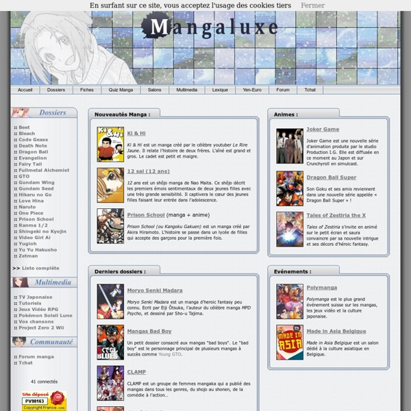 Site Manga : Fairy Tail, Bleach, Death Note, Naruto, One Piece, Fullmetal Alchemist, Mangas Anime