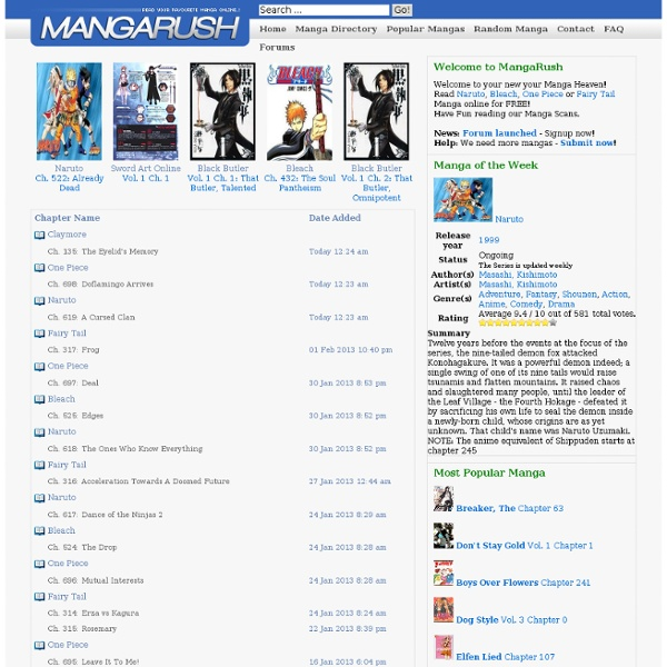 Manga Online Reads: Read Free Manga Online At Manga Rush