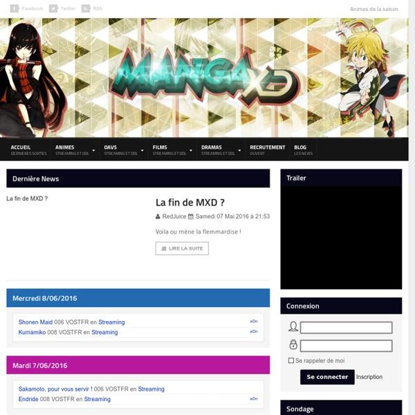 MangaXD.ws : Retrouvez vos Animes en Streaming et DDL gratuitement