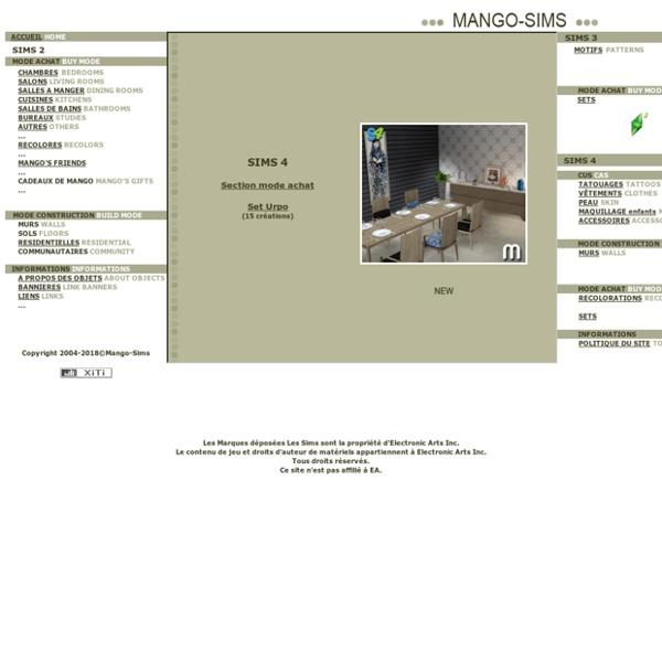 Mango-Sims2- Accueil