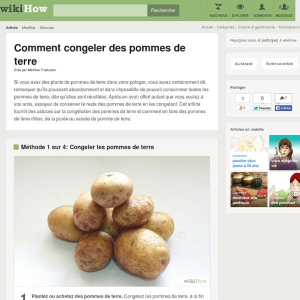 4 manières de congeler des pommes de terre