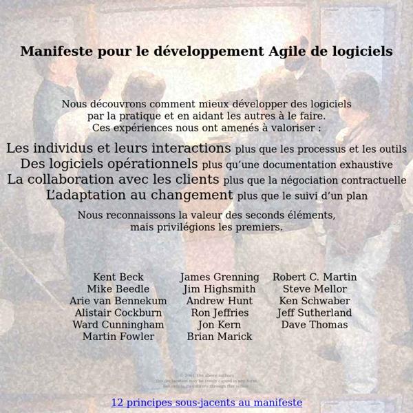 Manifeste pour le développement Agile de logiciels