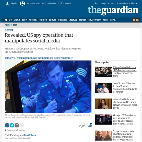 Revealed: US spy operation that manipulates social media