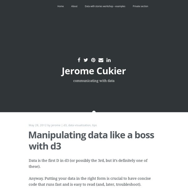 Manipulating data like a boss with d3
