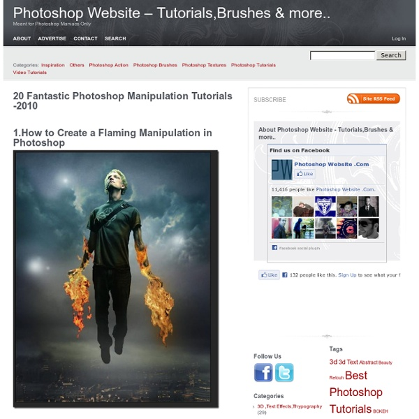 20 Fantastic Photoshop Manipulation Tutorials -2010Photoshop Website