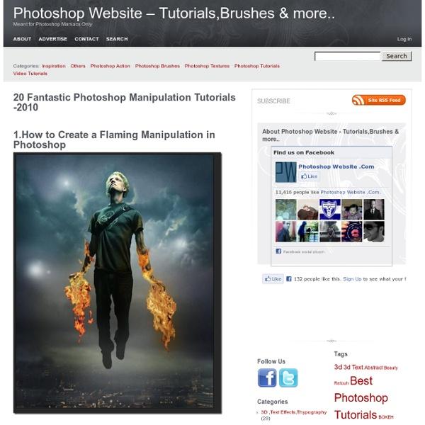 20 Fantastic Photoshop Manipulation Tutorials -2010Photoshop Website