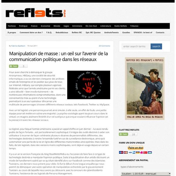 Manipulation de masse : un œil sur l'avenir de la communication politique dans les réseaux