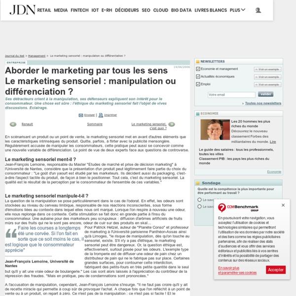 Le marketing sensoriel : manipulation ou différentiation ?