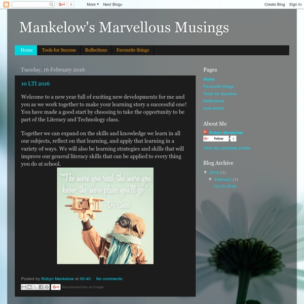 Mankelow's Marvellous Musings