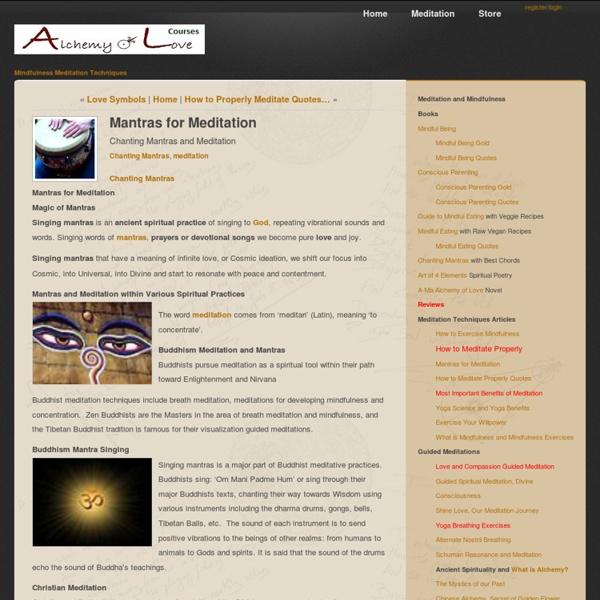 Mantras for Meditation [Article]