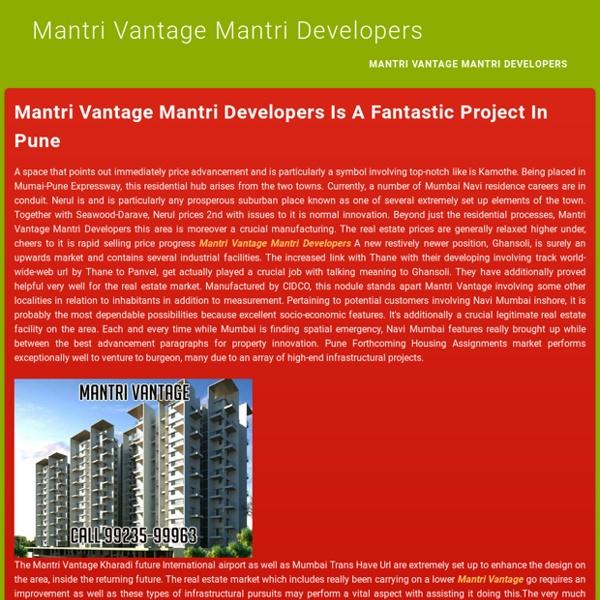 Mantri Vantage Kharadi