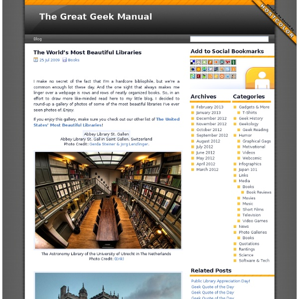 The Great Geek Manual » The World's Most Beautiful Libraries